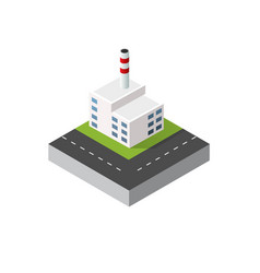 city urban factory vector image vector image