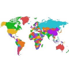 Corolful world map vector image vector image