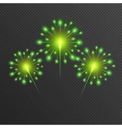 Shining green Firework glowing light vector image