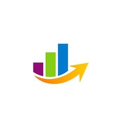business finance graph arrow logo vector image vector image
