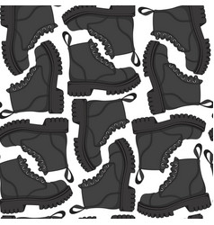 color seamless pattern with black boots vector image