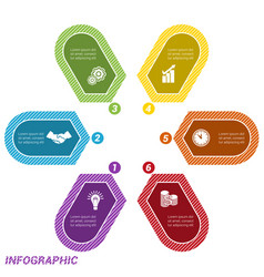 infographic points arranged in circle six vector image vector image