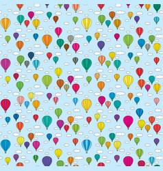 seamless balloons pattern vector image