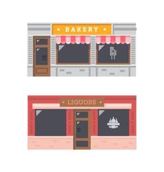 Shop front facade flat design vector image vector image