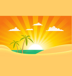 summer ocean landscape banner vector image vector image