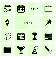 14 event icons vector