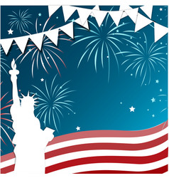 4th july celebration frame vector image