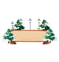 a christmas theme banner vector image