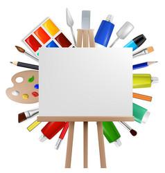 Art painter background creative realistic vector