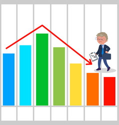 bad business chart vector image