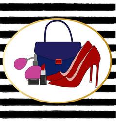 big fashion sketch set vector image