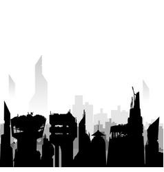 Black city silhouette vector
