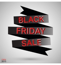 Black friday ribbon vector image