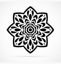 Black geometry mandala over white vector