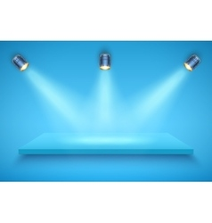 Blue color Presentation platform vector image vector image