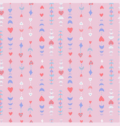 boho seamless patternfor valentine s day greeting vector image