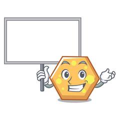 bring board hexagon character cartoon style vector image