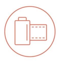Camera roll line icon vector image