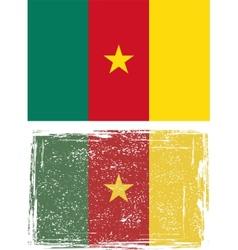 Cameroonian grunge flag vector image