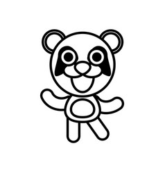 Cartoon panda animal outline vector