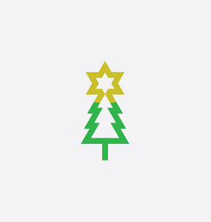 Christmas tree star logo icon symbol vector