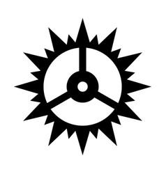 clock cogwheel vector image