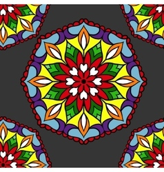 Colorful circle flower mandalas vector image vector image