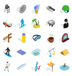 comfort icons set isometric style vector image
