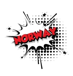 Comic text norway sound effects pop art vector