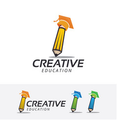 Creative academy logo design vector