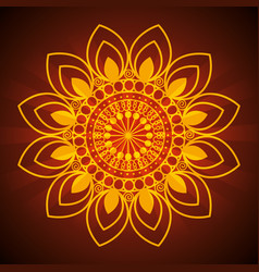 diwali flower with petals mandalas decoration vector image