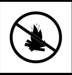 do not kindle fire sign vector image