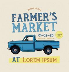 farm fresh delivery design template classic vector image