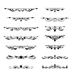 Floral decorative design element collection vector