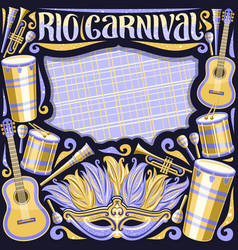Frame for rio carnival vector