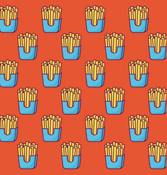 french fries background vector image
