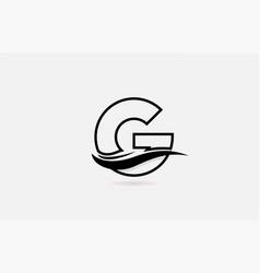 G black and white alphabet letter logo icon for vector