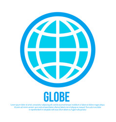 globe icon earth logo template vector image