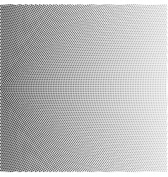 Halftone radial gradient with black dots vector