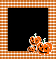 Halloween Pumpkin Faces Background vector image