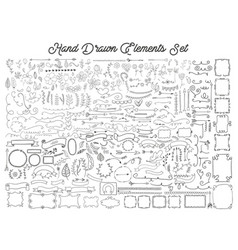 hand drawn elements set vector image