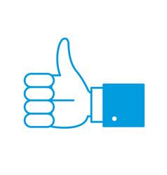hand thumb up vector image