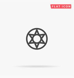 Heptagram flat icon vector