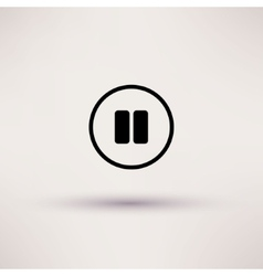 Icon of pause break Isolated vector