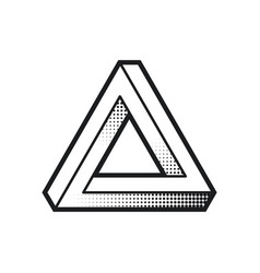 impossible shape optical web design element line vector image