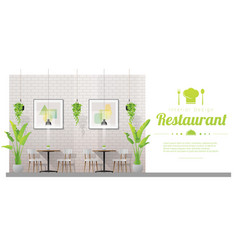 interior background with modern restaurant vector image