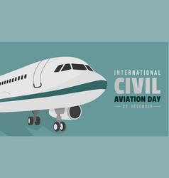 international civil aviation day vector image