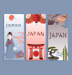 japanese symbols poster vector image