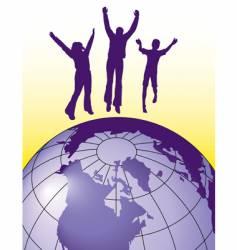 jump globe vector image