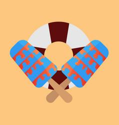 Lifebuoy icon with icecream vector